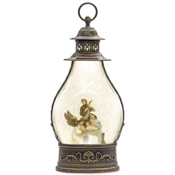 """15.5"""" Holy Family Plastic Snow Globe Lantern with 6 Hour Timer"""