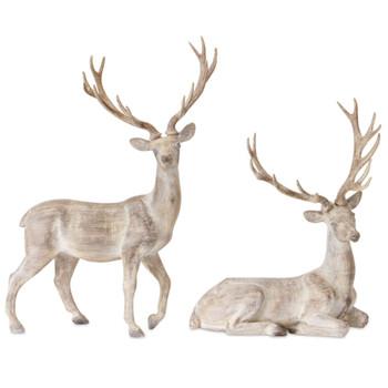 Noble Deer Sculptures, Set of 2