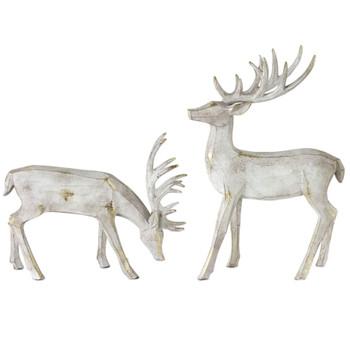 Grey Deer Sculptures, Set of 2