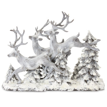 "16"" Deer in the Trees Sculpture"