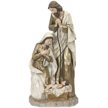 """27.5"""" Peaceful Holy Family Sculpture"""