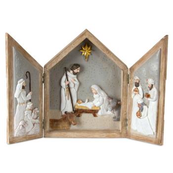 """16"""" Nativity Triptych Sculpture"""
