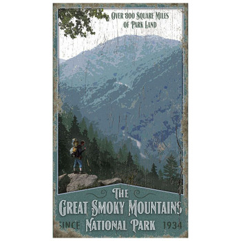 Custom Great Smoky Mountains National Park Vintage Style Wooden Sign
