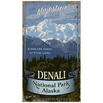 Custom Denali National Park Vintage Style Wooden Sign