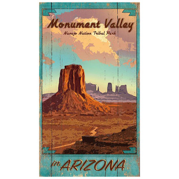 Custom Monument Valley Vintage Style Metal Sign