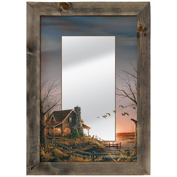 Comforts of Home Cabin Framed Wall Mirror