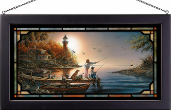 From Sea to Shining Sea Stained Glass Wall Art