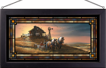 For Amber Waves of Grain Stained Glass Wall Art