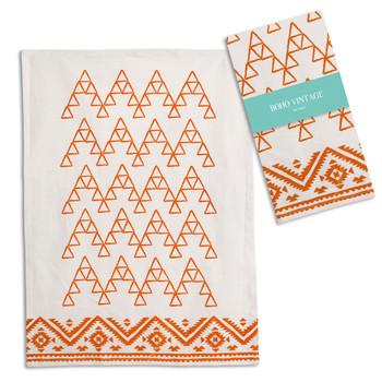 Saffron Cotton Tea Towels, Set of 4