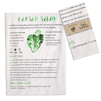 Caesar Salad Cotton Tea Towels, Set of 4