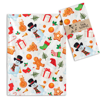 All Things Holiday Cotton Tea Towels, Set of 4