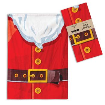 Santa Suit Cotton Tea Towels, Set of 4