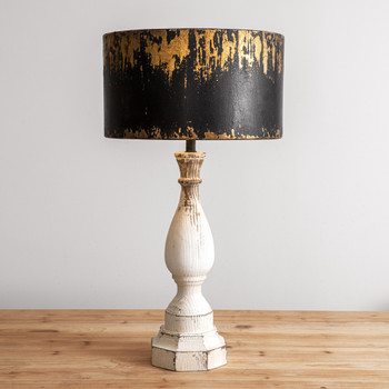 Luna Wood Table Lamp with Metal Shade