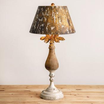 Ella Wood Table Lamp with Metal Shade