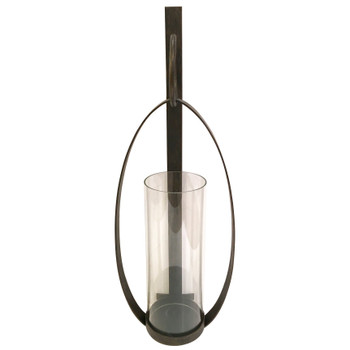Bronze Oval Loop Iron Candle Wall Sconce