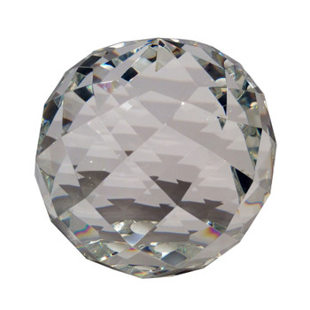 """6"""" Faceted Crystal Ball"""