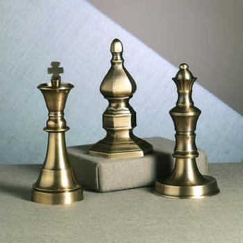 Antique Brass Finials, Set of 3
