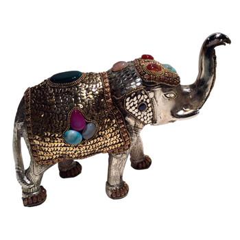 Standing Jeweled Elephant Sculpture