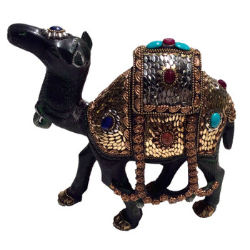 Standing Jeweled Camel Sculpture