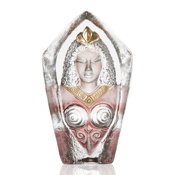 Freya Painted Etched Crystal Sculpture by Mats Jonasson