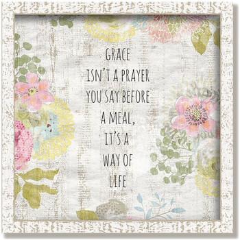 """Custom """"Grace"""" Inspirational Vintage Style Framed Wood Sign"""