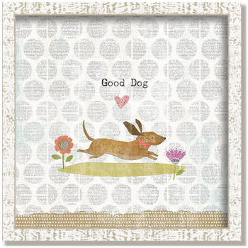 "Custom ""Good Dog"" Inspirational Vintage Style Framed Wood Sign"