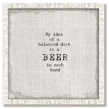 """Custom """"Beer"""" Inspirational Vintage Style Framed Wood Sign"""