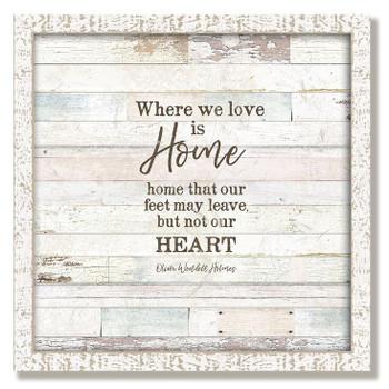 """Custom """"Home"""" Inspirational Vintage Style Framed Wood Sign"""