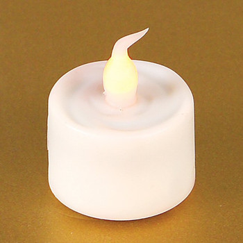"""1"""" LED White Flickering Tea Light Candles with 6 Hour timer, Set of 12"""