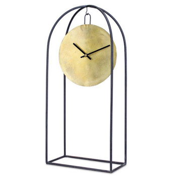 """24"""" Arch Iron and Copper Table Clock"""