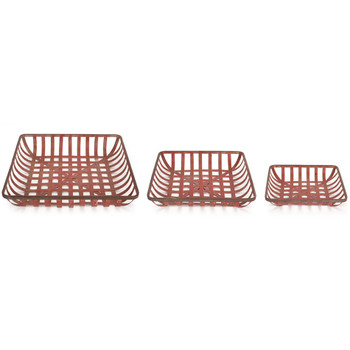 Weave Metal Decorative Trays, Set of 3