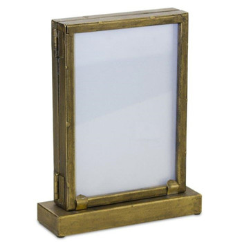 """8"""" Iron and Glass Photo Frames, Set of 2"""