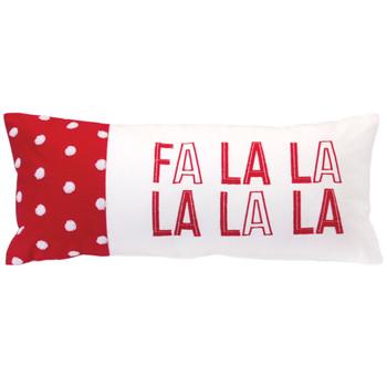 "21"" Fa La La La La Decorative Rectangle Throw Pillow"