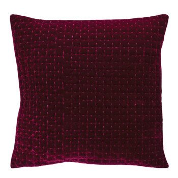 "15"" Burgundy Decorative Square Throw Pillows, Set of 2"