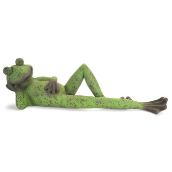 """38.25"""" Laying Frog Statue"""
