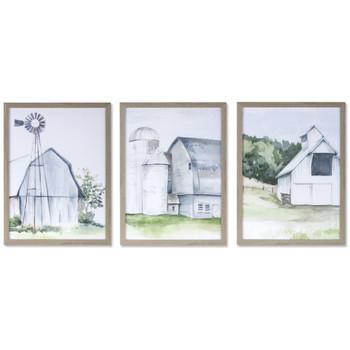 "11.5"" Farm Art Prints Framed Wall Art, Set of 3"