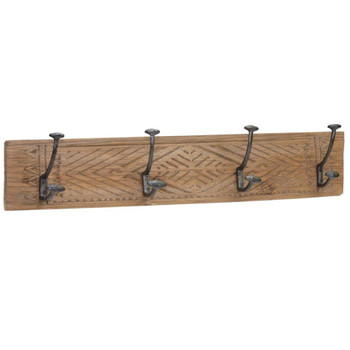 """27"""" Segal Wood and Iron Wall Hooks, Set of 2"""