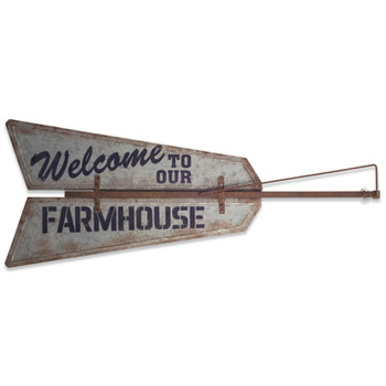 """48"""" Welcome to our Farmhouse Metal Wall Art"""