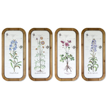 """26"""" Floral Iron Wall Art, Set of 4"""
