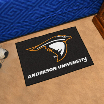 "19"" x 30"" Anderson University (IN) Black Rectangle Starter Mat"
