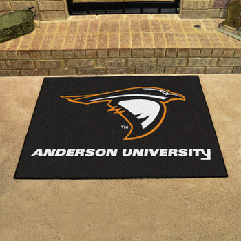 """33.75"""" x 42.5"""" Anderson University (IN) All Star Black Rectangle Mat"""
