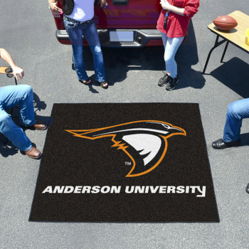 """59.5"""" x 71"""" Anderson University (IN) Black Tailgater Mat"""