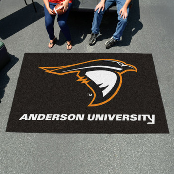 "59.5"" x 94.5"" Anderson University (IN) Black Rectangle Ulti Mat"