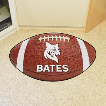 "20.5"" x 32.5"" Bates College Football Shape Mat"