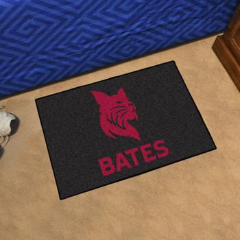 "19"" x 30"" Bates College Black Rectangle Starter Mat"