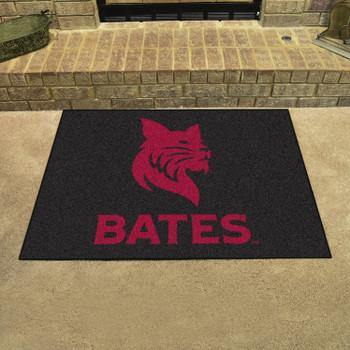 "33.75"" x 42.5"" Bates College All Star Black Rectangle Mat"