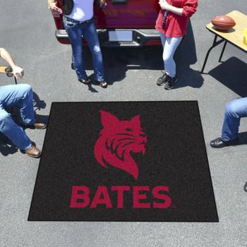 "59.5"" x 71"" Bates College Black Tailgater Mat"