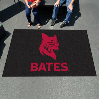 "59.5"" x 94.5"" Bates College Black Rectangle Ulti Mat"