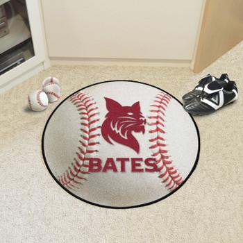 "27"" Bates College Baseball Style Round Mat"