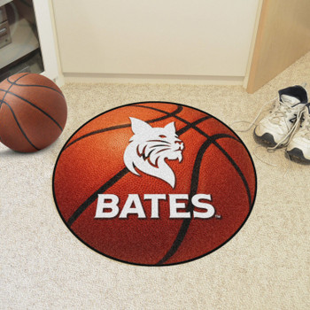 """27"""" Bates College Basketball Style Round Mat"""